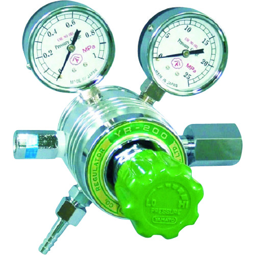 ヤマト フィン付圧力調整器 YR-200 [YR-200-R-A-11HG03-N2O] YR200RA11HG03N2O 販売単位:1 送料無料