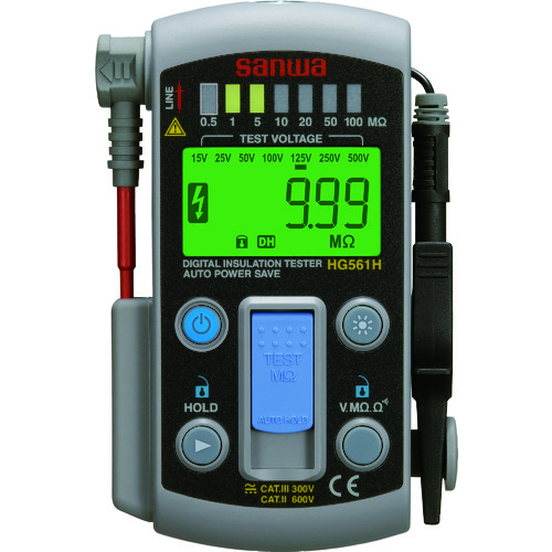 SANWA スマートスタイル7レンジ式デジタル絶縁抵抗計 [HG561H] HG561H 販売単位:1 送料無料