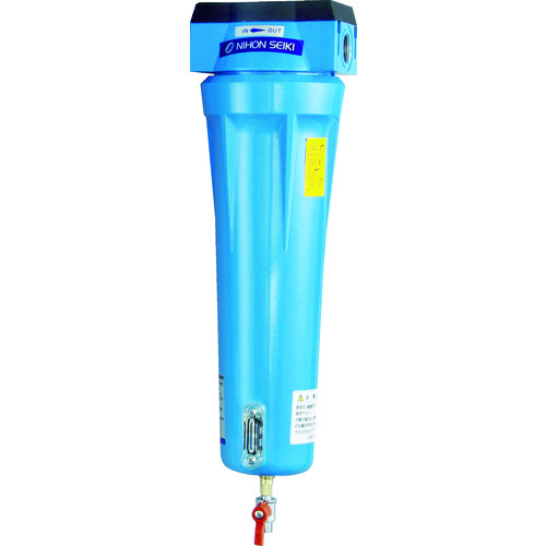 日本精器 高性能エアフィルタ20A0.01ミクロン(ドレンコック付) [NI-AN3-20A-DL-DV] NIAN320ADLDV 販売単位:1 送料無料
