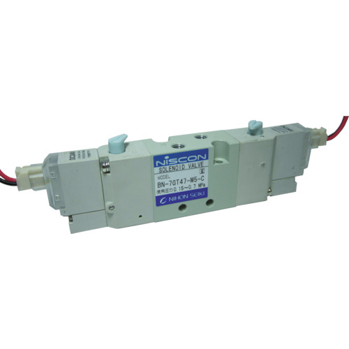 日本精器 4方向電磁弁M5ダブルAC100V7GT [BN-7GT47-M5-C-E100] BN7GT47M5CE100 販売単位:1 送料無料