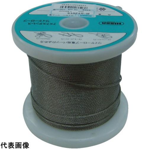 ニッサチェイン ステンレスワイヤーロープ 2.5mm×100m [TSY-25-100] TSY25100 販売単位:1 送料無料