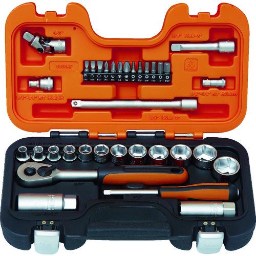 バーコ インチソケットセット 1/4 3/8 差込角6.35mm 9.5mm [S330AF] S330AF 販売単位:1 送料無料