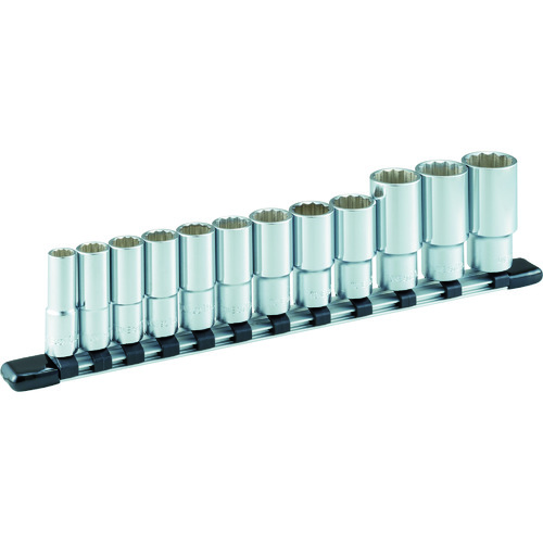 TONE ディープソケットセット(12角・ホルダー付) 12pcs [HDL312A] HDL312A 販売単位:1 送料無料
