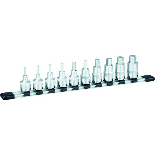 TONE ヘキサゴンソケットセット(インチホルダー付) 10pcs [HHB410] HHB410 販売単位:1 送料無料