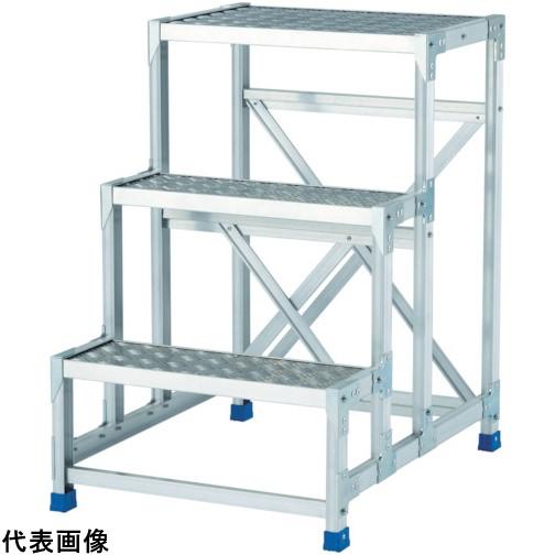 アルインコ 作業台(天板縞板タイプ)2段 [CSBC266S] CSBC266S 販売単位:1 送料無料