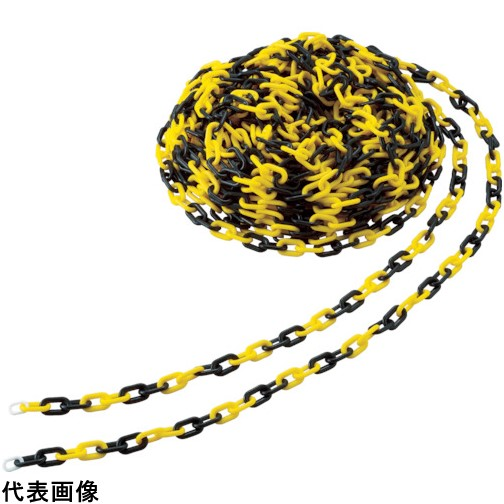 TRUSCO トラスコ中山 プラチェーン 8MMX30M 黄/黒 [TPC-8YB] TPC8YB 販売単位:1 送料無料