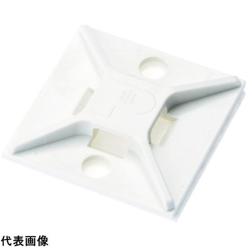 パンドウイット マウントベース アクリル系粘着テープ付き 白 (500個入) [ABM2S-AT-D] ABM2SATD 販売単位:1 送料無料
