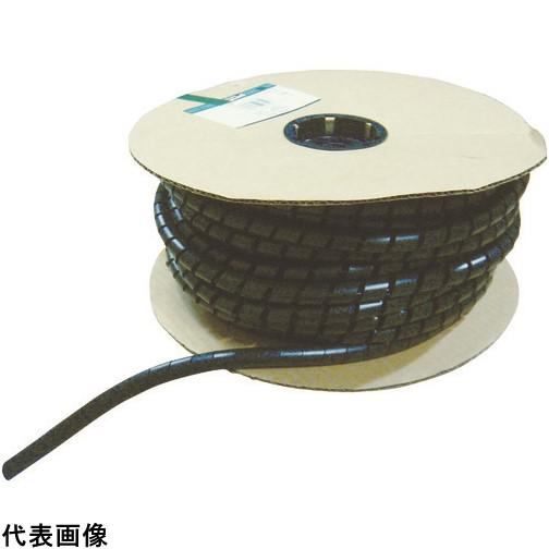 パンドウイット スパイラルラッピング 耐候性ナイロン66 黒 [T38N-C0] T38NC0 販売単位:1 送料無料