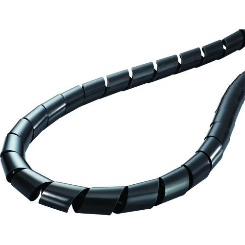 ヘラマンタイトン スパイラルチューブ (ポリエチレン製 耐候グレード) 黒 長さ50m [TS-10-W] TS10W 販売単位:1 送料無料