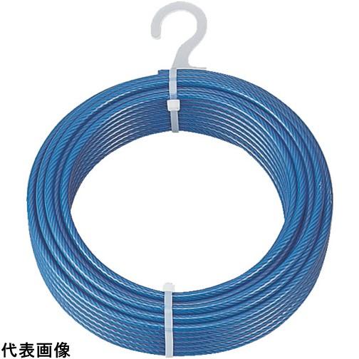 TRUSCO トラスコ中山 メッキ付ワイヤロープ PVC被覆タイプ Φ4(6)mmX100m [CWP-4S100] CWP4S100 販売単位:1 送料無料