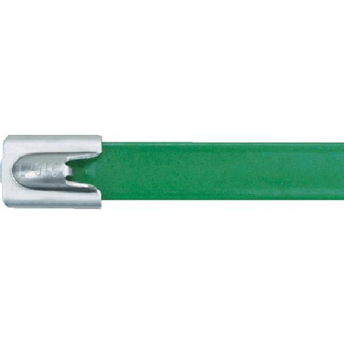 パンドウイット MLTタイプ フルコーティングステンレススチールバンド SUS316 緑 幅8.1mm 長さ201mm 50本入り MLTFC2H-LP316GR [MLTFC2H-LP316GR] MLTFC2HLP316GR 販売単位:1 送料無料
