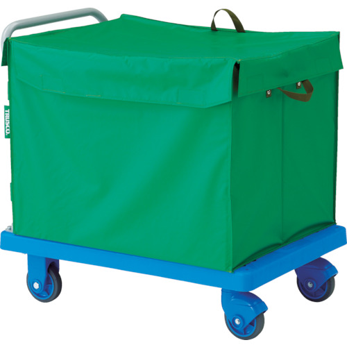 TRUSCO トラスコ中山 樹脂台車 グランカート サイレント 蓋付ハンドトラックボックス付 900X6 [TP-X902-THB] TPX902THB 販売単位:1 送料無料