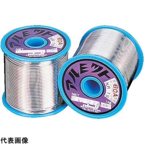 アルミット 鉛フリーやに入りはんだ KR-19 難はんだ付け用 0.8mm [KR19-60A-2.5-0.8MM] KR1960A2.50.8MM 販売単位:1 送料無料