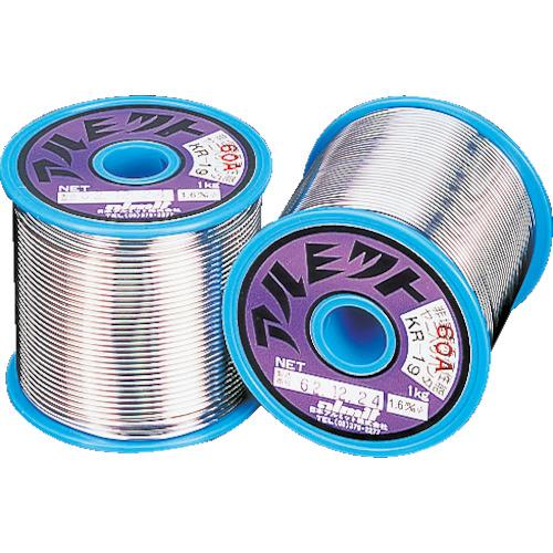 アルミット 鉛フリーやに入りはんだ KR-19 難はんだ付け用 1.0mm [KR19-60A-2.5-1.0MM] KR1960A2.51.0MM 販売単位:1 送料無料