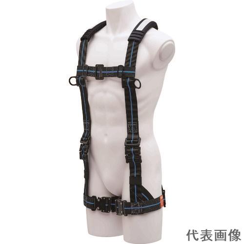 KH ハーネスY型ワンタッチ式黒/青ラインM寸 [FYPNBL-M] FYPNBLM      販売単位:1 送料無料