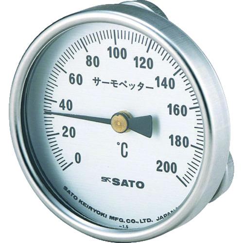 佐藤 バイメタル式表面温度計 サーモペッター 0~200℃ (2340-20) [2340-20] 234020 販売単位:1 送料無料