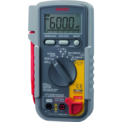 SANWA デジタルマルチメータ [CD732] CD732 販売単位:1 送料無料
