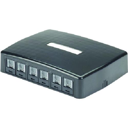 パンドウイット CAT6スプリングシャッター付きローゼットキット 6個口 黒 JOQ6BH600BL JOQ6H600BL 販売単位:1 送料無料