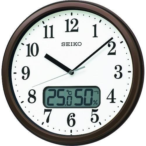"""SEIKO 電波掛時計 """"KX244B"""" (温度湿度表示付き)  KX244B             販売単位:1 送料無料"""