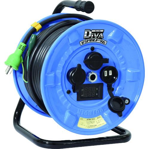 日動 防雨型 電圧電流メーター付電工ドラム デジタルドラム DiVA 漏電保護専用ブレーカー付 30m [NPDMW-EB33] NPDMWEB33      販売単位:1 送料無料