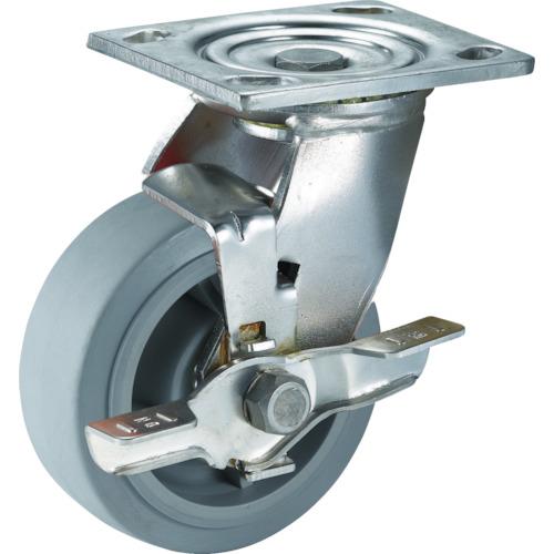 SAMSONG ステンレスキャスター 自在SP付 エラストマー 125mm TP675001MIRTLB         販売単位:1 送料無料