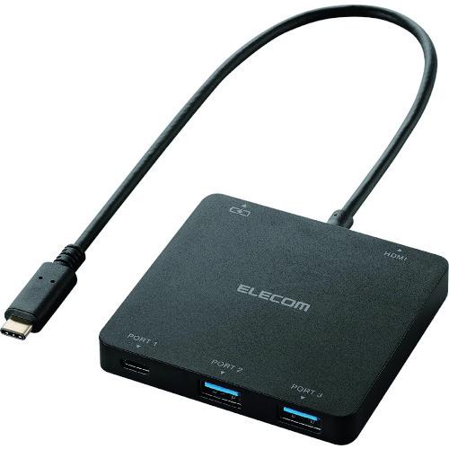 エレコム USB Type-C搭載ドッキングステーション PD対応 ブラック [U3HC-DC03BBK] U3HCDC03BBK 販売単位:1 送料無料