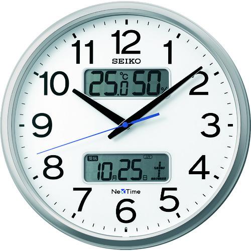 """SEIKO 電波掛時計 """"セイコーネクスタイム ZS250S"""" (ハイブリッド電波時計) [ZS250S] ZS250S       販売単位:1 送料無料"""