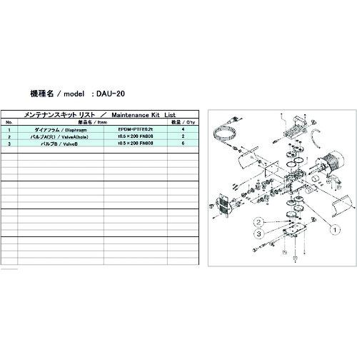ULVAC DAU-20用メンテナンスキット [DAU-20 MAINTENANCEKIT] DAU20MAINTENANCEKIT   販売単位:1 送料無料