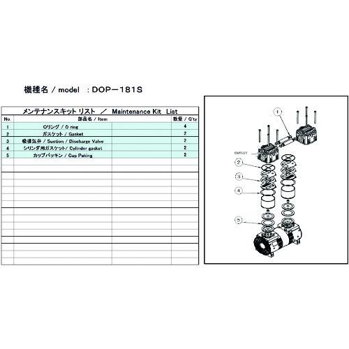 ULVAC DOP-181S用メンテナンスキット DOP181SMAINTENANCEKIT     販売単位:1 送料無料