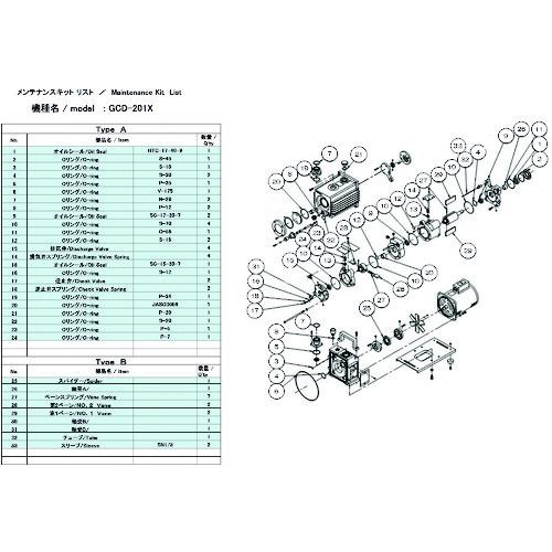 ULVAC GCD-201X用メンテナンスキットB [GCD-201X MAINTENANCEKIT B] GCD201XMAINTENANCEKITB 販売単位:1 送料無料