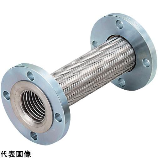 NFK 標準フランジ式フレキシブルホース(カラー式) フランジ10K/SS400(接液部SUS304) 80A×500L [NK-3100/10K-SS400-80A-500L] NK310010KSS40080A500L   販売単位:1 送料無料