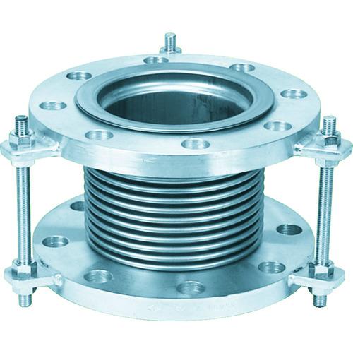 NFK 排気ライン用伸縮管継手 フランジ5K/SS400(接液部SUS) 100A×100L [NK-7300/5K-SS400-100A-100L] NK73005KSS400100A100L   販売単位:1 送料無料