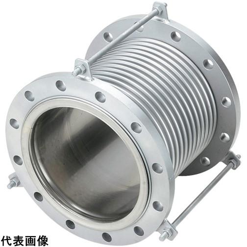 NFK 排気ライン用伸縮管継手 フランジ5K/SS400(接液部SUS) 125A×150L [NK-7300/5K-SS400-125A-150L] NK73005KSS400125A150L   販売単位:1 送料無料