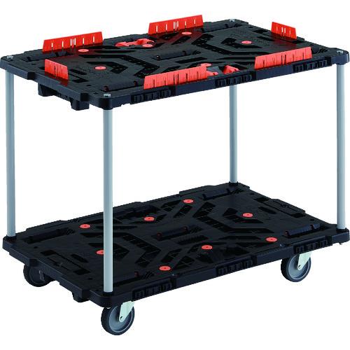 トラスコ中山 株 搬送機器 運搬台車 平台車 TRUSCO BT920KJ5-E100T 8000 TRUSCO 連結式樹脂製2段台車 ビートル 倉 BT920KJ5E100T 自在5輪 送料無料 販売単位:1 ハンドルなし 900X600 柵 とめたろう付 価格交渉OK送料無料