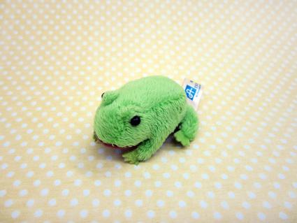 小さくて可愛い動物たち 5%OFF ちびだまアニマル カエル 最新号掲載アイテム サイズ:約7cm