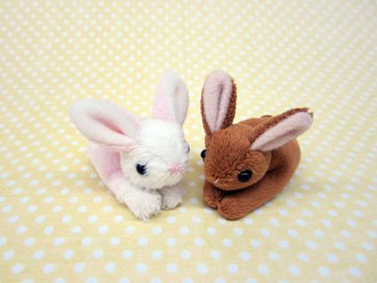小さくて可愛い動物たち セール商品 ちびだまアニマル 安全 ウサギ サイズ:約7cm