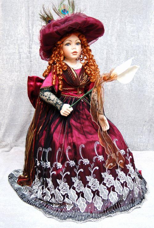 限定ビスクドール「Beatrice(ベアトリス)」スツールチェア付き サイズ:H86cm 椅子掛け型の人形です。(送料無料!)