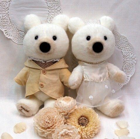 mariageマリアージュシリーズ noce bear ウェルカムテディベアー サイズ:30cm(立)24cm(座)
