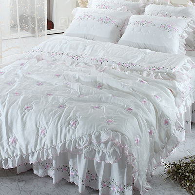 【送料無料】人工 シルク ドルチェA,B ・ シングル 4点セット|ウェディングドレスのようなデザイン寝具セット|全サイズオーダー可能|布団丸洗い|ピンク|かわいい|新居|子供部屋|新婚|布団セット|寝具セット|かわいい寝具|掛け布団|ふとん