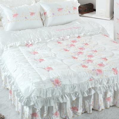 【送料無料】人工 シルク ドルチェC・ シングル 4点セット|ウェディングドレス のような デザイン 寝具セット|全サイズオーダー可能|布団丸洗い|ピンク|かわいい|新居|子供部屋|新婚【高級寝具】|布団セット|寝具セット|かわいい寝具|掛け布団|ふとん