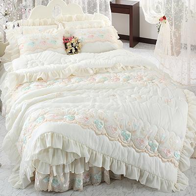 【送料無料】ノーブレス A ダブル 4点セット|ウェディングドレスのようなデザイン寝具セット|全サイズオーダー可能|布団丸洗い|ピンク|かわいい|新居|子供部屋|新婚【高級寝具】