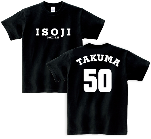 誕生日祝い五十路Tシャツ(バリエーション)【楽ギフ_名入れ】