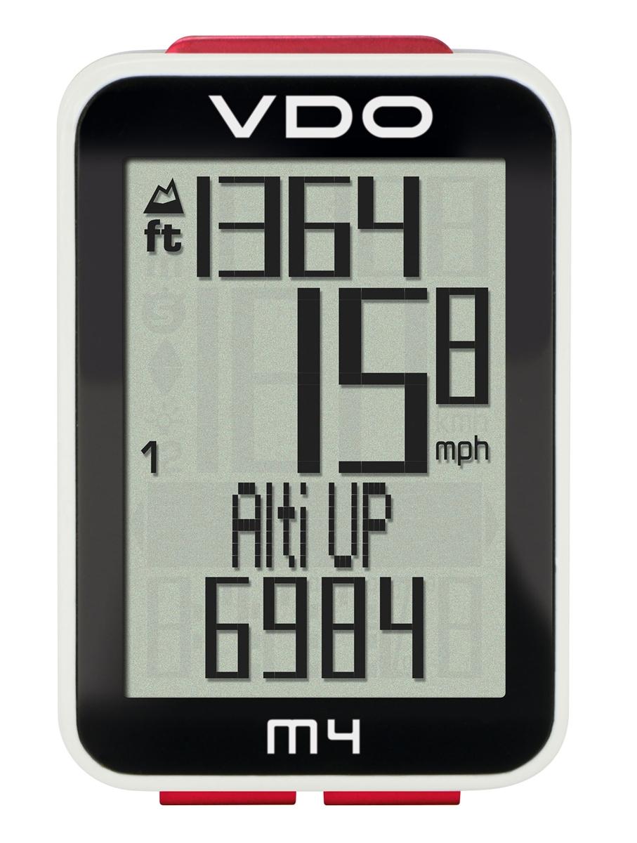 サイクルコンピューター ワイヤレス VDO(バーディオー) M4WL デジタルワイヤレス通信 ドイツブランド サイクルコンピューター 大画面表示 スピード+時間+距離+温度計+高度+勾配+バックライト機能付 ポルシェ メルセデス