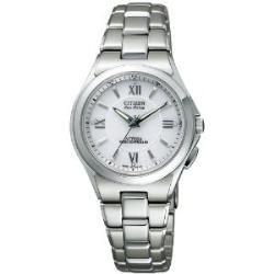 Citizen ATB53-3041 アテッサエコドライブ radio time signal white clockface Lady's