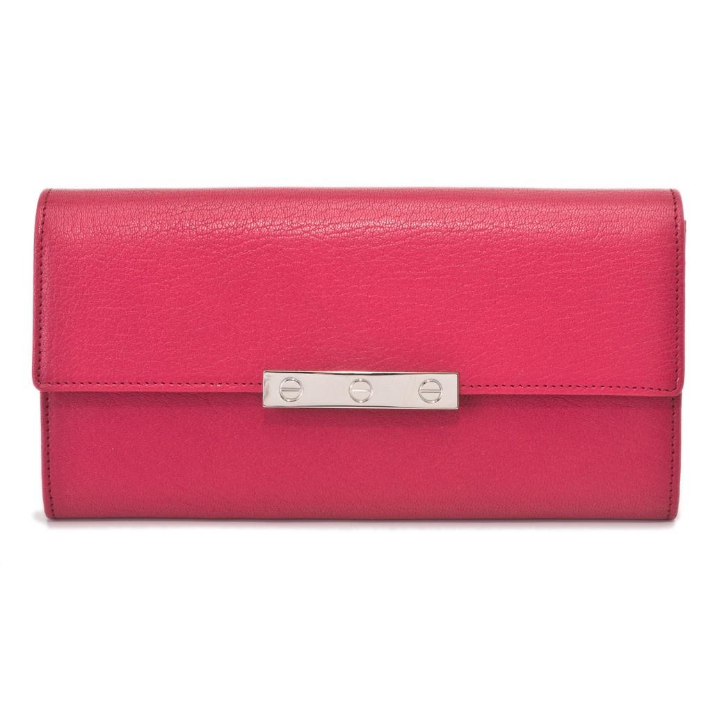 Cartier カルティエ 財布 L3001376 フューシャピンク LOVE