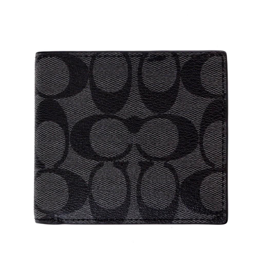 COACH OUTLET コーチ アウトレット 二つ折り財布 F75006 CQ/BK シグネチャー