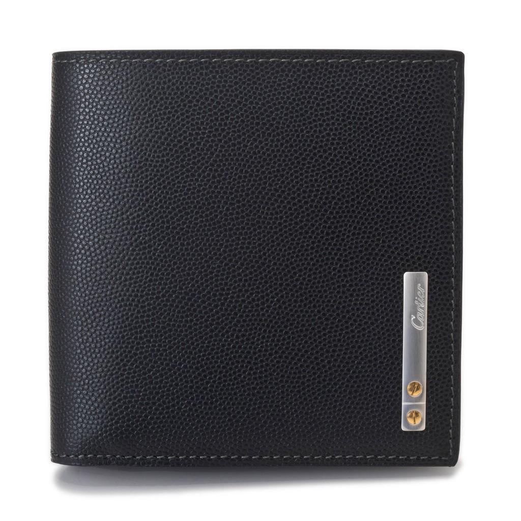 purchase cheap 20a20 a2e4f 安い Cartier カルティエ 財布 L3000772 ブラック サントス 【ご ...