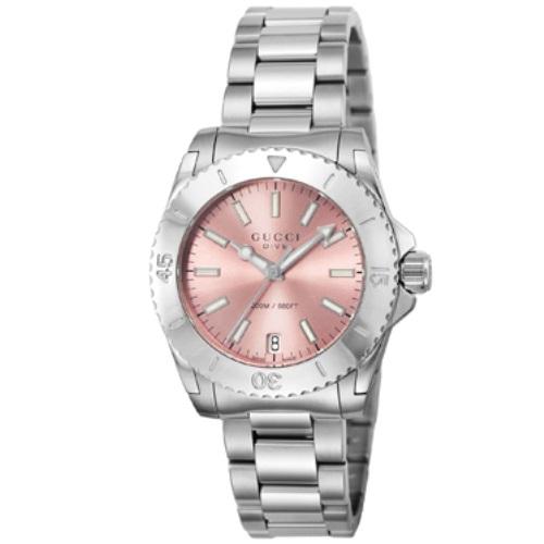 GUCCI グッチ 腕時計 レディース ダイヴ ピンク YA136401