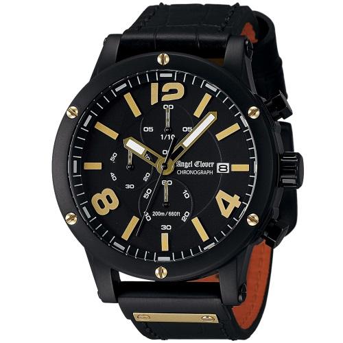 【72時間限定ポイント5倍】Angel Clover エンジェルクローバー 腕時計 メンズ EVC46BBK-BK EXVENTURE CHRONO