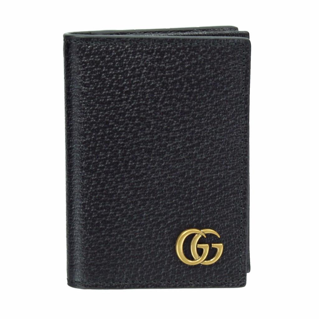 GUCCI グッチ カードケース 428737 DJ20T 1000 レザー GGマーモント